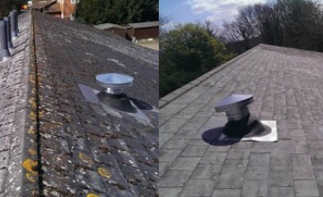 commercial roof cleaning in Wallington
