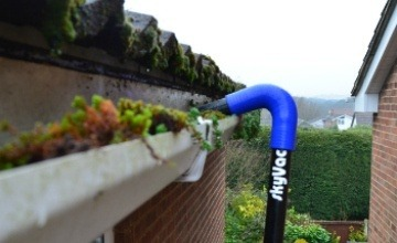 skyvac gutter cleaning in Congleton