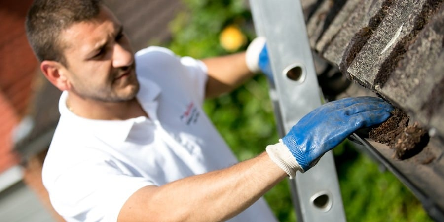 residential gutter cleaning in Wallington