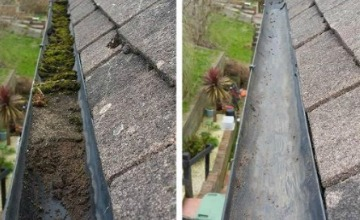 high level gutter cleaning in Bordon